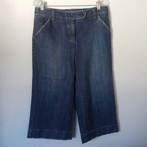 Ann Taylor 6 Wide Leg Capris Shorts Culottes